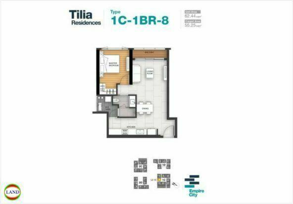 Mặt bằng căn hộ 8 tháp 1CTilia Residence - MU7 Empire city