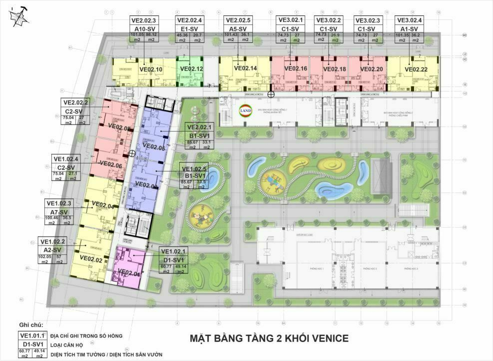 Mặt bằng(layout) tầng 12a tháp venice - New City Thủ Thiêm