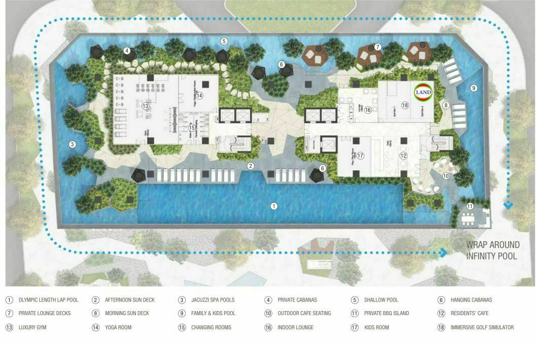 Mặt bằng (layout) tầng tiện ích the crest residence