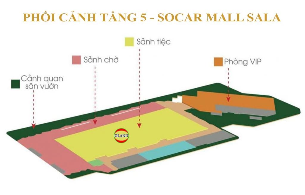 Phối cảnh mặt bằng tầng 5 Socar Mall - Sala Thủ Thiêm
