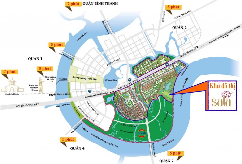 Vị trí Sala Đại Quang Minh