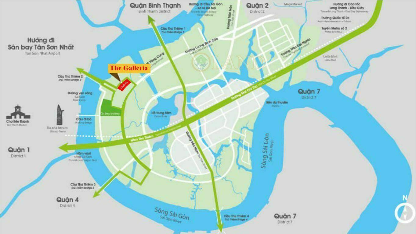 Vị trí The Galleria - GD1 The Metropole Thủ Thiêm
