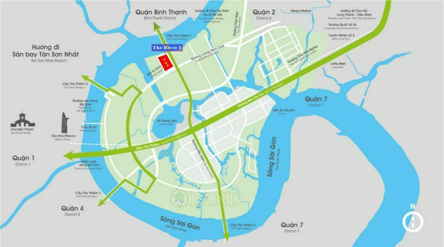 Vị trí The River 1 Thủ Thiêm - Ô 3.15