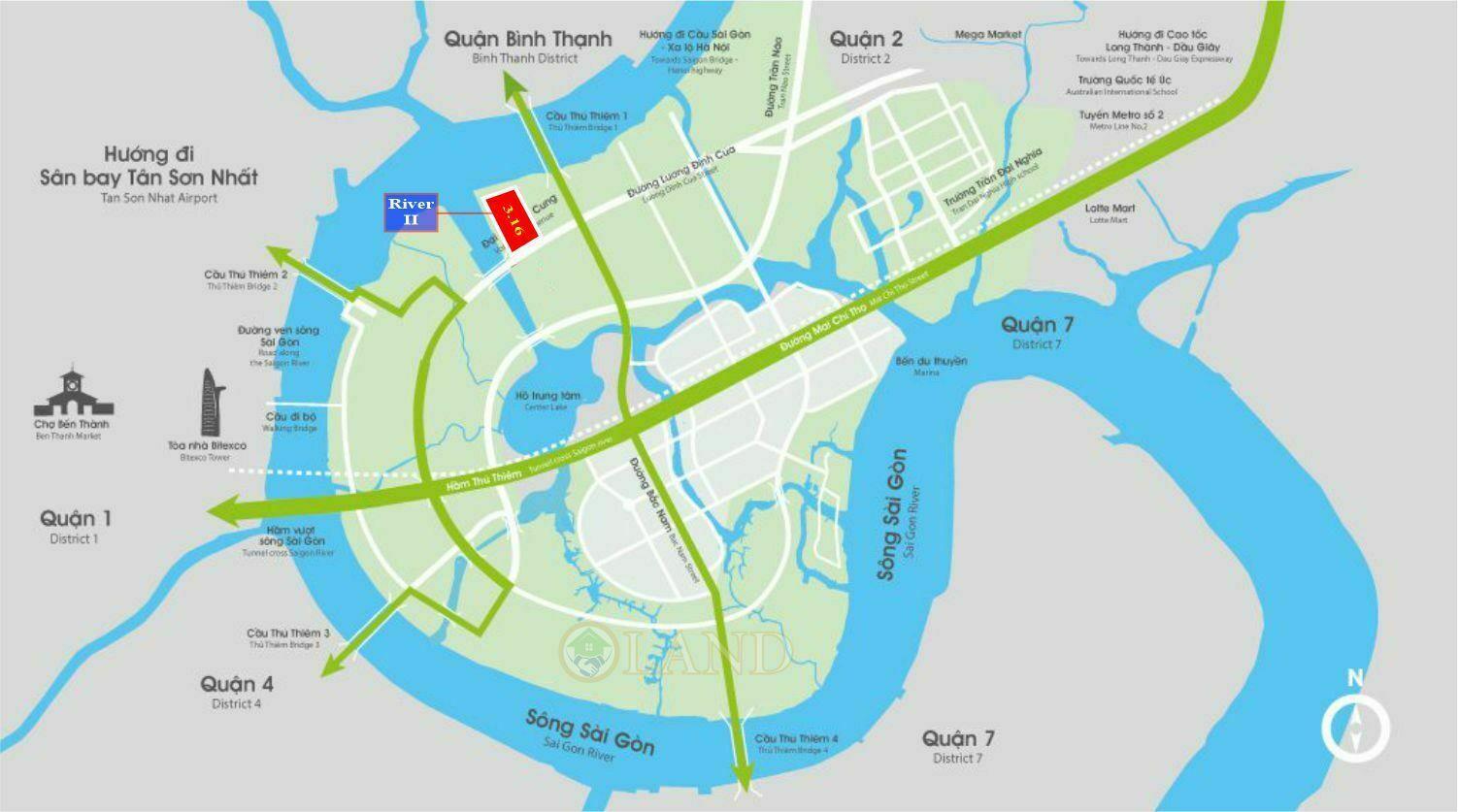 Vị trí River 2 Thủ Thiêm - Ô 3.16