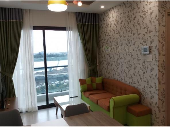 Phòng khách căn hộ 2 phòng ngủ new city quận 2